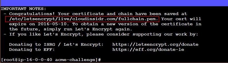 Letsencrypt confirmation